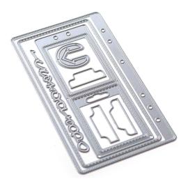 EC1867 Elizabeth Craft Metal Die Planner Essentials 41