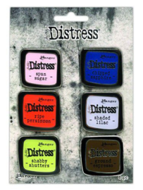 TDZS73482 Ranger Distress Pin-Carded Distress Pin Set 6