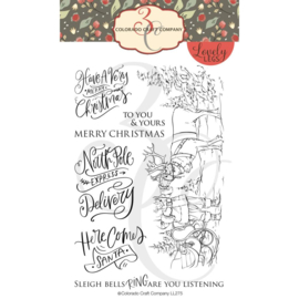 """C3LL275 Colorado Craft Company Clear Stamps Santa & Rudolph-Lovely Legs 4""""X6"""""""