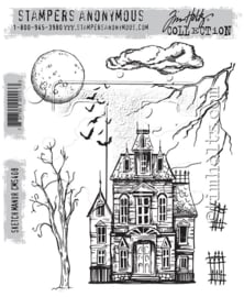 "CMS 408 Tim Holtz Cling Stamps Sketch Manor 7""X8.5"""