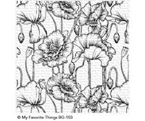 BG-103 My Favorite Things Poppies Background Stamp