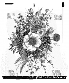 "CMS366  Tim Holtz Cling Stamps Glorious Garden 7""X8.5"""