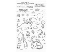 BB-092 My Favorite Things Magical Friends Clear Stamps