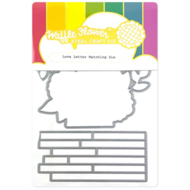 647556 Waffle Flower Die Love Letter Matching