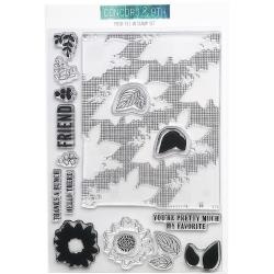 "448920 Concord & 9th Clear Stamps Posie Fill-In 4""X6"""