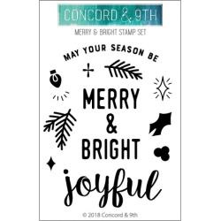 "549155 Concord & 9th Clear Stamps Merry & Bright 3""X4"""