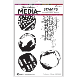 "542985 Dina Wakley Media Cling Stamps For The Love Of Circles 6""X9"""