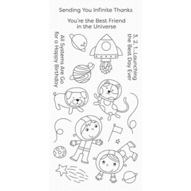 "CS488 My Favorite Things Clear Stamps Best Friends In The Universe 4""X8"""