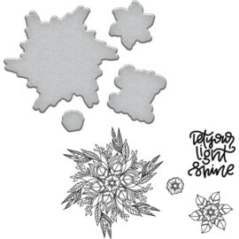 SDS097 Spellbinders Stamp & Die Set Good Vibes-Light Shine By Stephanie Low