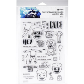 HUR67238 Simon Hurley Cling Stamps  Dudes Too!