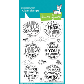 """LF2508 Lawn Fawn Clear Stamps Magic Messages  4""""X6"""""""