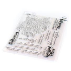 "PF112121 Pinkfresh Studio Clear Stamp Set Floral Bunch 6""X8"""