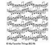 BG-96 My Favorite Things Background Stamp Musical Notes