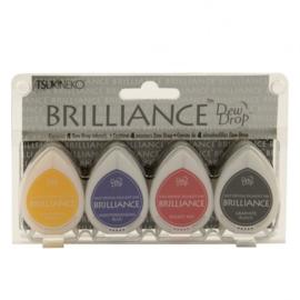 BD-100-001 Brilliance dew drop ink pad x4 set basics