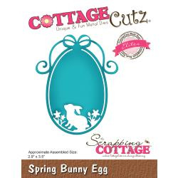 "CCE499 CottageCutz Elites Die Spring Bunny Egg 2.9""X3.5"""