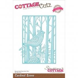500642 CottageCutz Elites Die Cardinal Scene