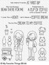 BB-66 My Favorite Things Friends at First Sip Clear Stamps