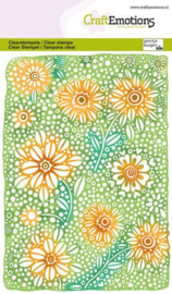 130501/1347 CraftEmotions clearstamps A6 Bloemenachtergrond
