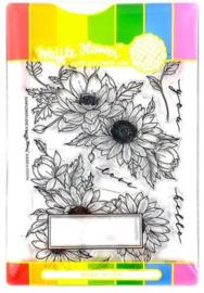 614437 Waffle Flower Stamp & Die Set Sunflower Love