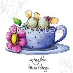 404306 Stamping Bella Cling Rubber Stamp Maisy & Madeline Have Some Tea