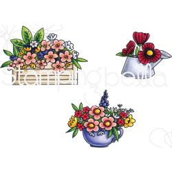 265875 Stamping Bella Cling Stamps Little Bits Flower Parts