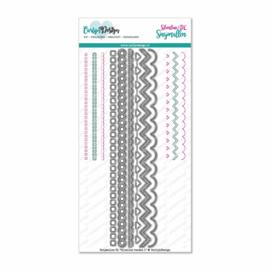 CDSN-0060 CarlijnDesign Snijmallen Slimline Randen 1