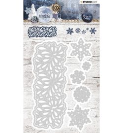 STENCILSA219 - Cutting and Embossing Die Cut, Snowy Afternoon nr.219
