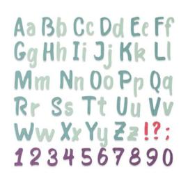 664491 Sizzix Thinlits Die Set Bold Brush Alphabet Sophie Guilar
