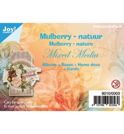 8010/0003  Mulberry boombastvezels voor oa. Mixed Media-bruin