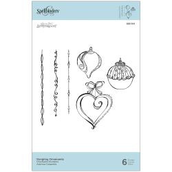 SBS164 Spellbinders Cling Stamps Dangling Ornaments