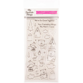 """CS515 My Favorite Things Vault Clear Stamps Fox & Friends 4""""X8"""""""