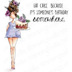 584696 Stamping Bella Cling Stamps Curvy Girl Eats Cake
