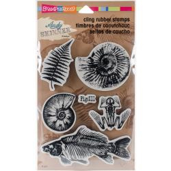 307082 Stampendous Andy Skinner Cling Stamps Fossils