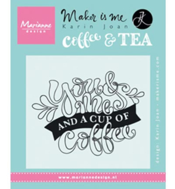 KJ1709 Marianne Design stempel Quote You & Me and a cup of coffee