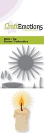 115633/0199 CraftEmotions Die - brandende kaars 3D Card 5x10cm