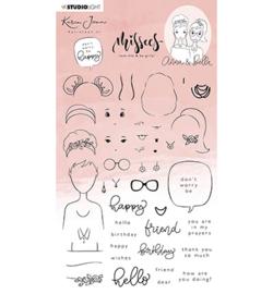 STAMPKJ15 StudioLight KJ Clear Stamp Anna & Bella Missees Collection nr.14