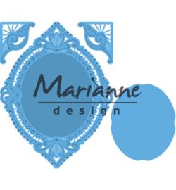 LR0485 Marianne Design Creatables Petra's oval & corners