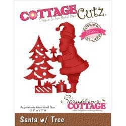 "506205 CottageCutz Elites Die Santa W/Tree 2.8""X3"""