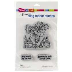580547 Stampendous Cling Stamp Mermaid Fun