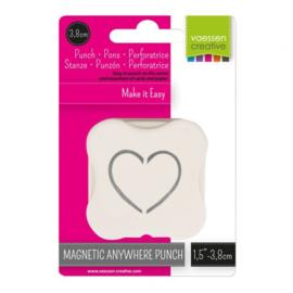 21450-005 Vaessen Creative magnetische pons pop up hart 38mm