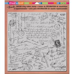 "019813 Stampendous Decor Cling Stamp Script 10""X8.75"""