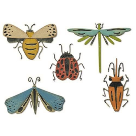 665364 Sizzix Thinlits Die Set Funky Insects Tim Holtz 5PK