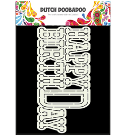 470.713.656 Dutch DooBaDoo Card Art Happy Birthday