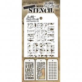 MTS 1 Tim Holtz Mini Layered Stencil Set #1