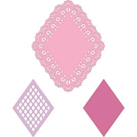 557958 Heartfelt Creations Cut & Emboss Dies Burst Of Spring-Lacy Diamond
