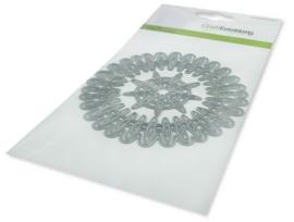 115633/0533 CraftEmotions Die - frame rond Cristal shine Card 10,5x14,8cm 10,5cm