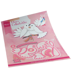 COL1492 Marianne Design Collectables Eline's pigeons