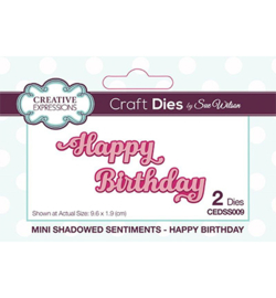 CEDSS009 Mini Shadowed Sentiments Happy Birthday