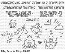 CS-366 My Favorite Things Stamp Rainbows & Unicorns