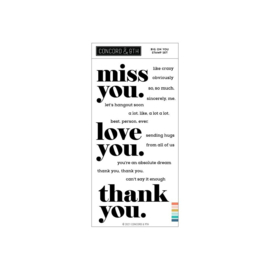 """655429 Concord & 9th Clear Stamps Big On You 4""""X8"""""""